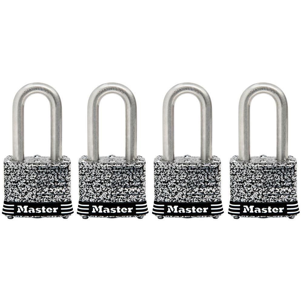 1-9/16 in. Laminated Stainless Steel Keyed Padlock with 1-1/2 in. Shackle