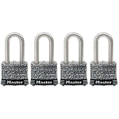 1-9/16 in. Laminated Stainless Steel Keyed Padlock with 1-1/2 in. Shackle (4-Pack)