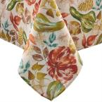 60 in. W x 102 in. L Multi Color Gourd Gathering Fall Printed Tablecloth