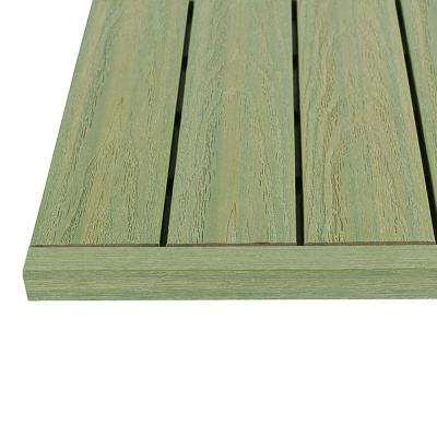1/6 ft. x 1 ft. Quick Deck Composite Deck Tile Straight End Fascia in Irish Green (4-Piece/Box)