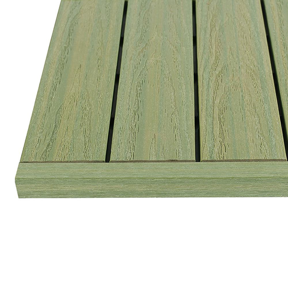 1/6 ft. x 1 ft. Irish Green Quick Deck Composite Deck Tile Straight End Fascia (4-Piece/Box)