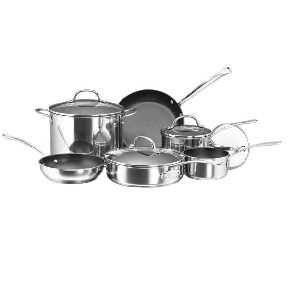 Millennium 10-Piece Stainless Steel Cookware Set with Lids