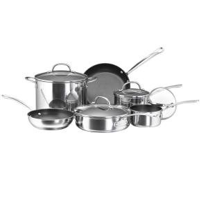 Farberware Millennium 10-Piece Stainless Steel Cookware Set with Lids by Farberware