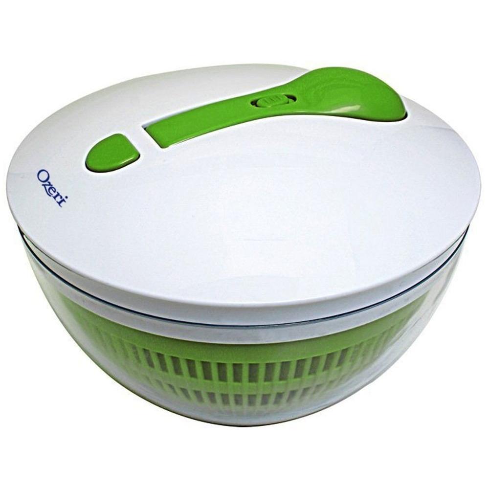 Swiss Designed FRESHSPIN Salad Spinner and Serving Bowl, BPA-Free