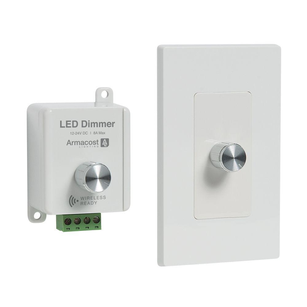 Armacost Lighting 2 In 1 White Led Dimmer Dim2in1 96w12v The Home 3 Way Ir Switch