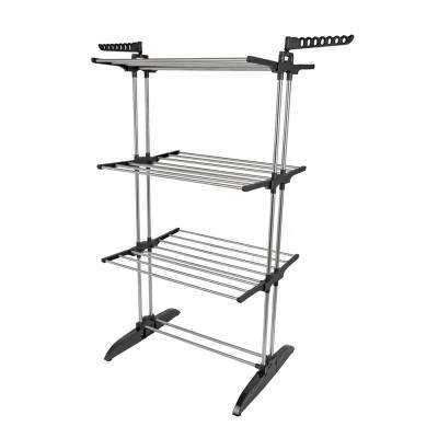 24.6 in. W x 62.5 in. H Stainless Steel Collapsible Vertical Drying Rack