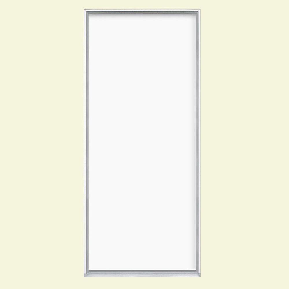 Masonite 32 in. x 80 in. Flush Right-Hand Inswing Ultra White Painted Steel Prehung Front Door No Brickmold