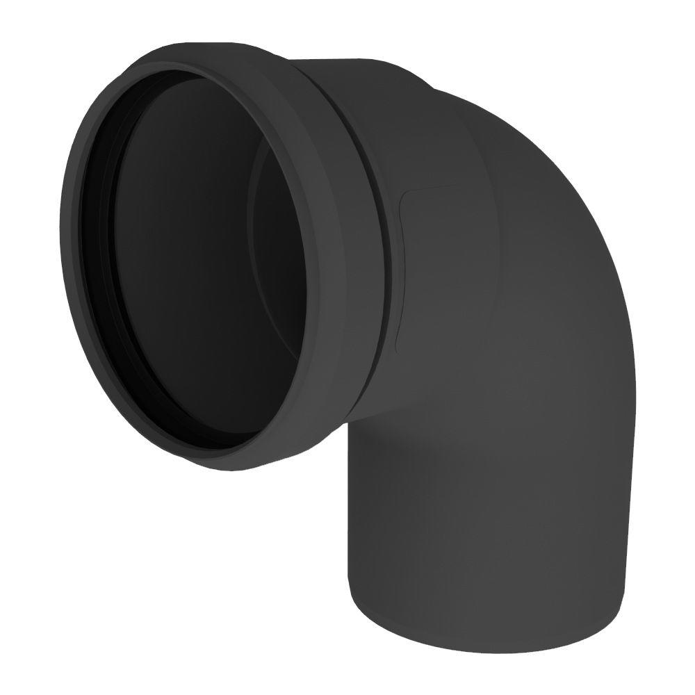 PolyPro 3 in. 90-Degree Elbow in UV Black
