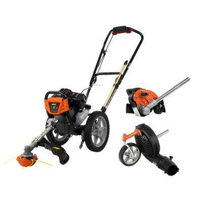 43cc Wheeled String Trimmer with Edger Attachment and Blower Attachment Combo Kit