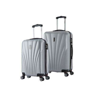 Chicago lightweight hardside spinner 2 piece Set 21 & 25-Silver