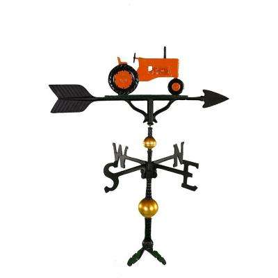 32 in. Deluxe Orange Tractor Weathervane