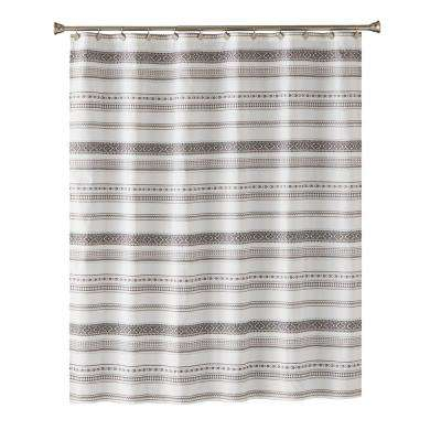 Geo Stripe 72 in. Shower Curtain In Black