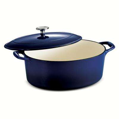 Gourmet 7 Qt. Cast Iron Oval Dutch Oven