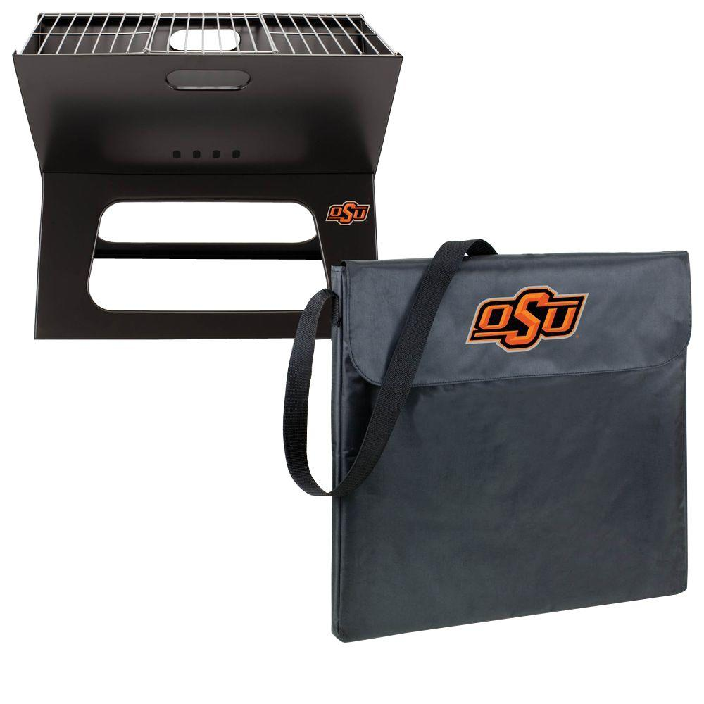 Picnic Time X-Grill Oklahoma State Folding Portable Charcoal Grill