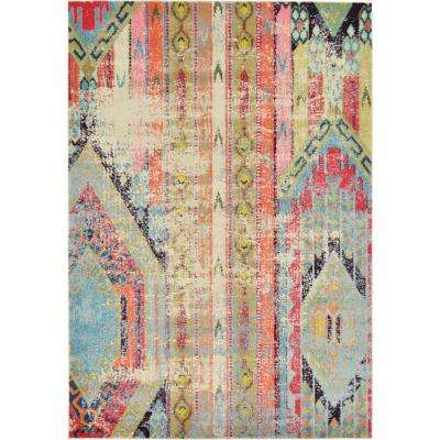 Sedona Multi 6 ft. 7 in. x 9 ft. 6 in. Area Rug