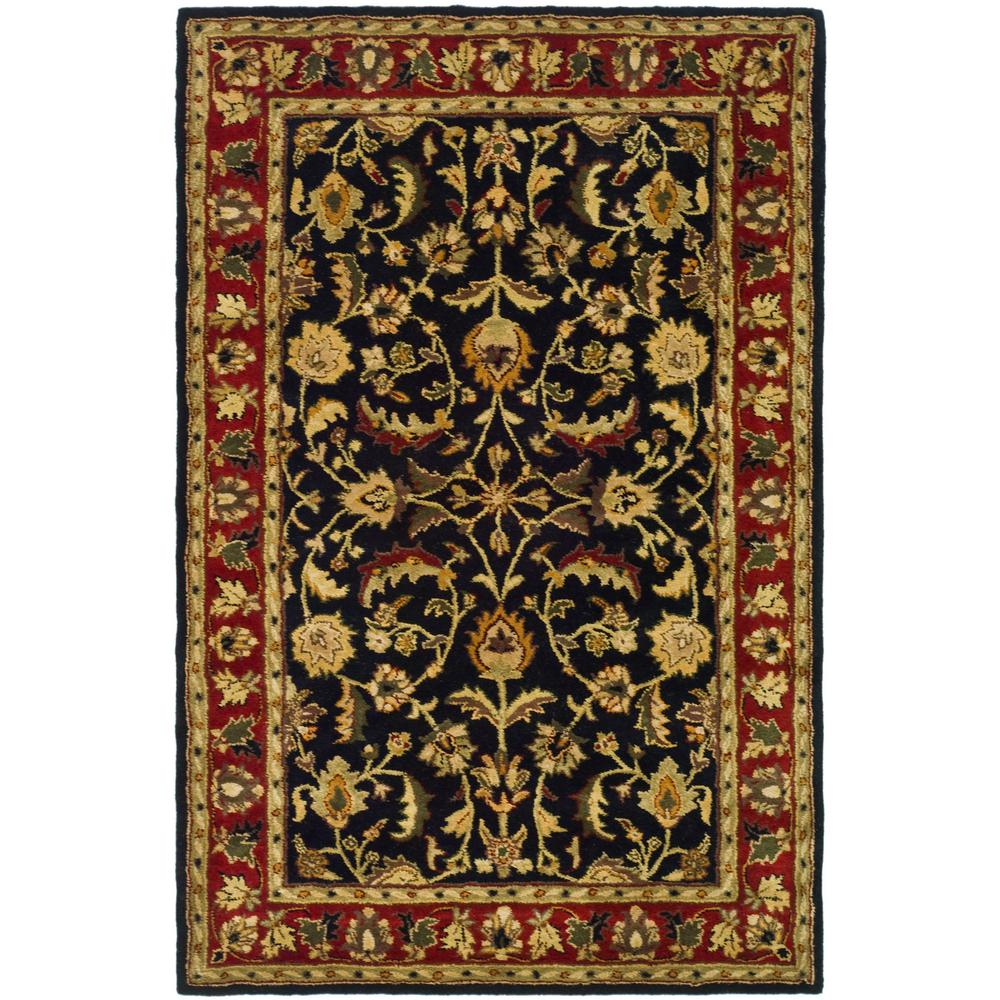 Heritage Black / Red 4 ft. x 6 ft. Area Rug
