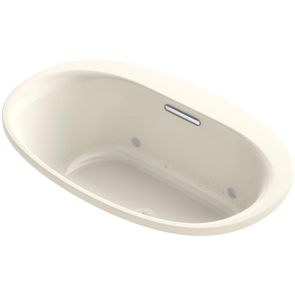 Underscore 5 ft. Air Bath Tub in Almond