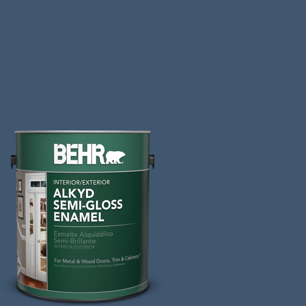 S500 7 Infinite Deep Sea Semi Gloss Enamel Alkyd Interior Exterior Paint