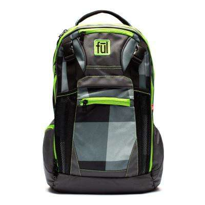 Troubleshooter Grey/Green Laptop Backpack Fits up to 17 in. Laptop