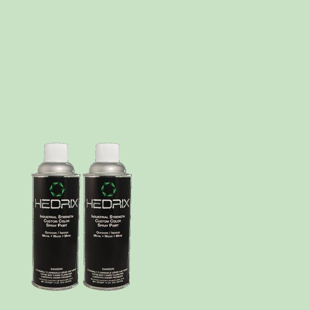 Hedrix 11 oz. Match of 470C-3 Spirited Green Gloss Custom Spray Paint (2-Pack)