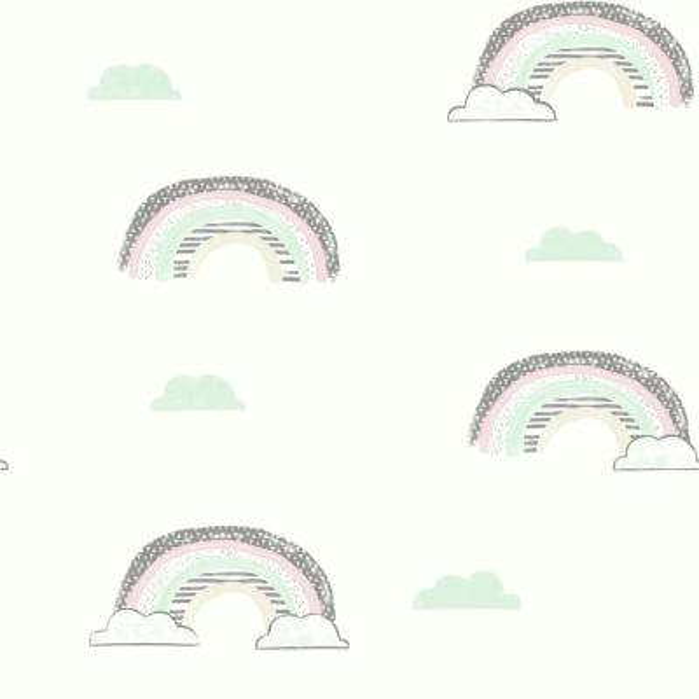 56 sq. ft. Chasing Rainbows Wallpaper