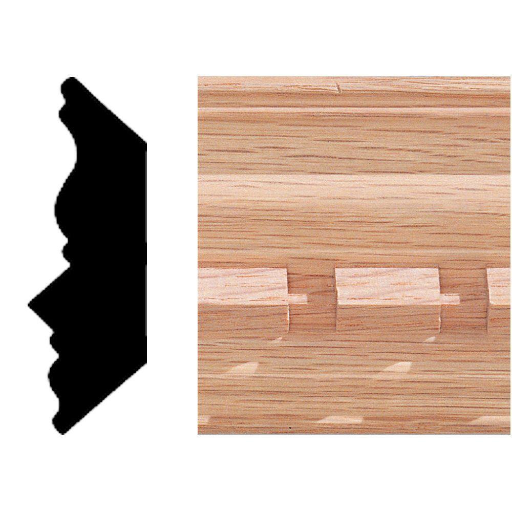 House of Fara 3/4 in. 2-1/4 in. x 8 ft. Oak Dentil Crown Moulding