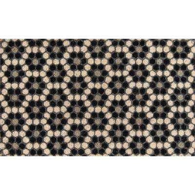 Hex Tile Black 18 in. x 30 in. Door Mat