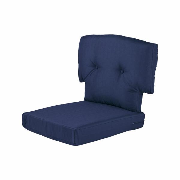 Charlottetown 23.5 in. x 26.5 in. 2-Piece Outdoor Chair Cushion in Navy