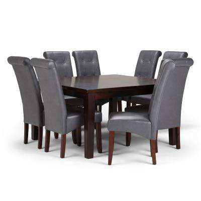 Cosmopolitan 9-Piece Stone Grey Dining Set