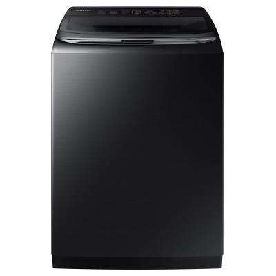 5.4 cu. ft. High-Efficiency Top Load Washer with Activewash and Steam in Black Stainless Steel, ENERGY STAR