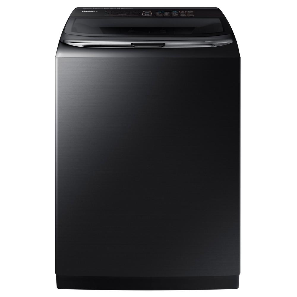 Samsung 5.4 cu. ft. High-Efficiency Top Load Washer with Activewash and Steam in Black Stainless, ENERGY STAR