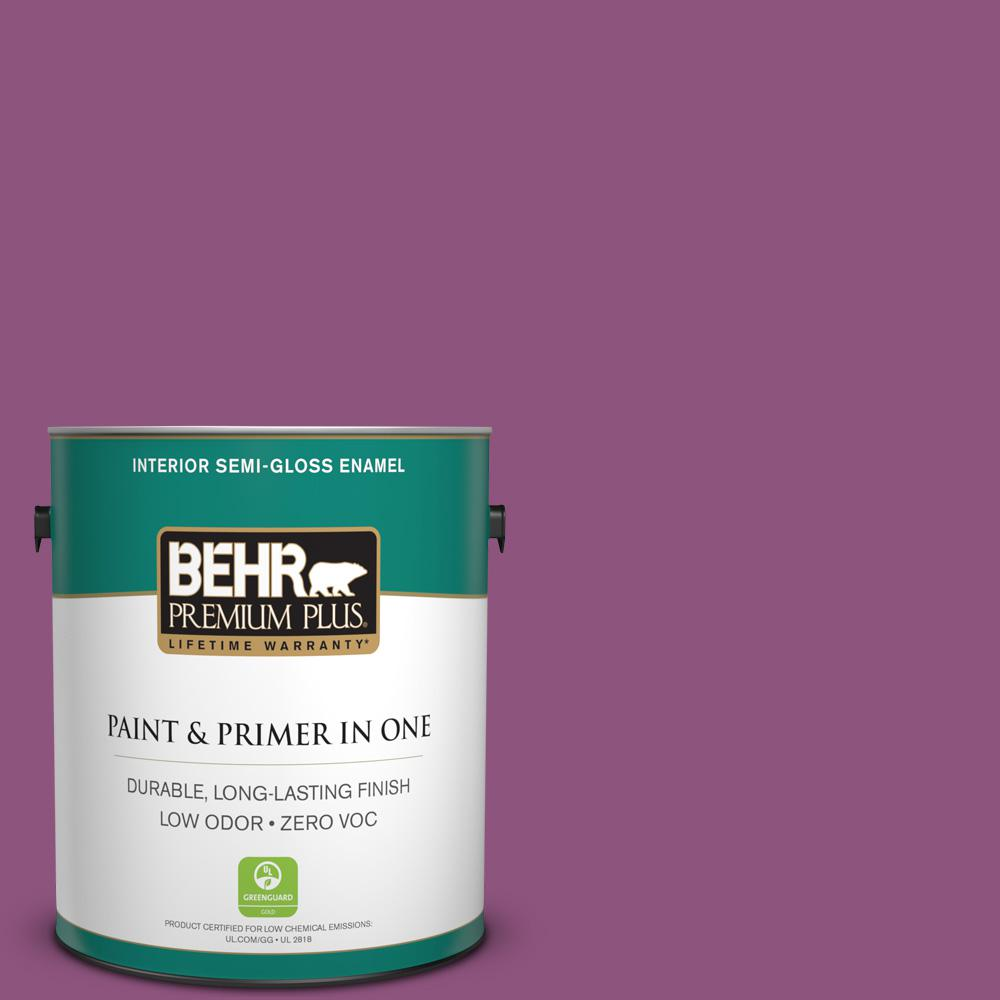 1 gal. #PPU1-18 Peru Zero VOC Semi-Gloss Enamel Interior Paint