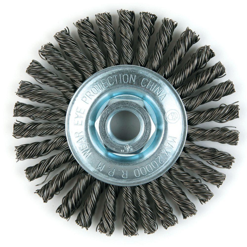 Lincoln Electric 4 in. Stringer Bead Twist Brush-KH310 - The Home Depot