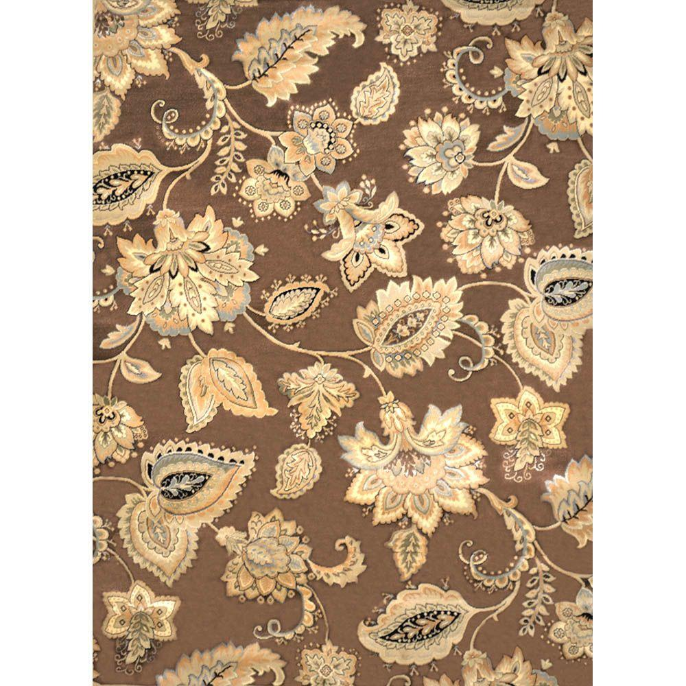 home decorators collection tiara brown 7 ft 8 in x 10 ft