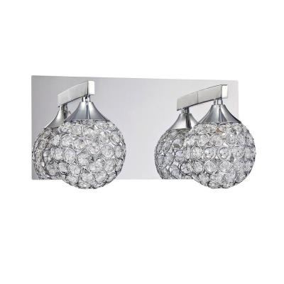 CRYS Series 2-Light Chrome Bath Light