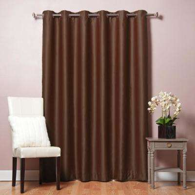 80 in. W x 96 in. L Chocolate Wide Flame Retardant Blackout Curtain Panel