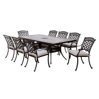 Charissa Antique Black Transitional Style Patio Dining Table