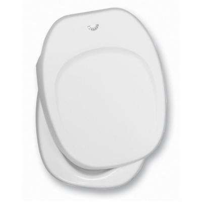 White Seat and Cover Assembly for Aqua Magic IV RV Permanent Toilet