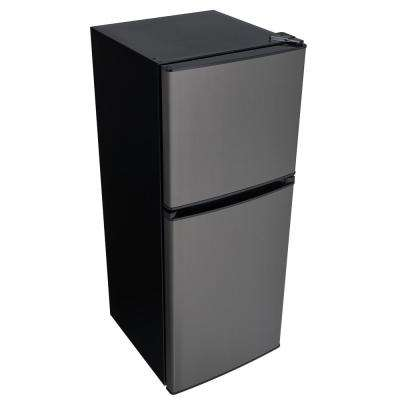 4.7 cu. ft. 2-Door Mini Refrigerator in Black Stainless Steel