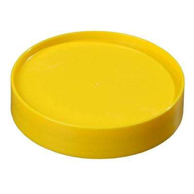 Replacement Lid Only for Stor 'N Pour Pouring System, Fits All Sized Containers in Yellow (Case of 12)