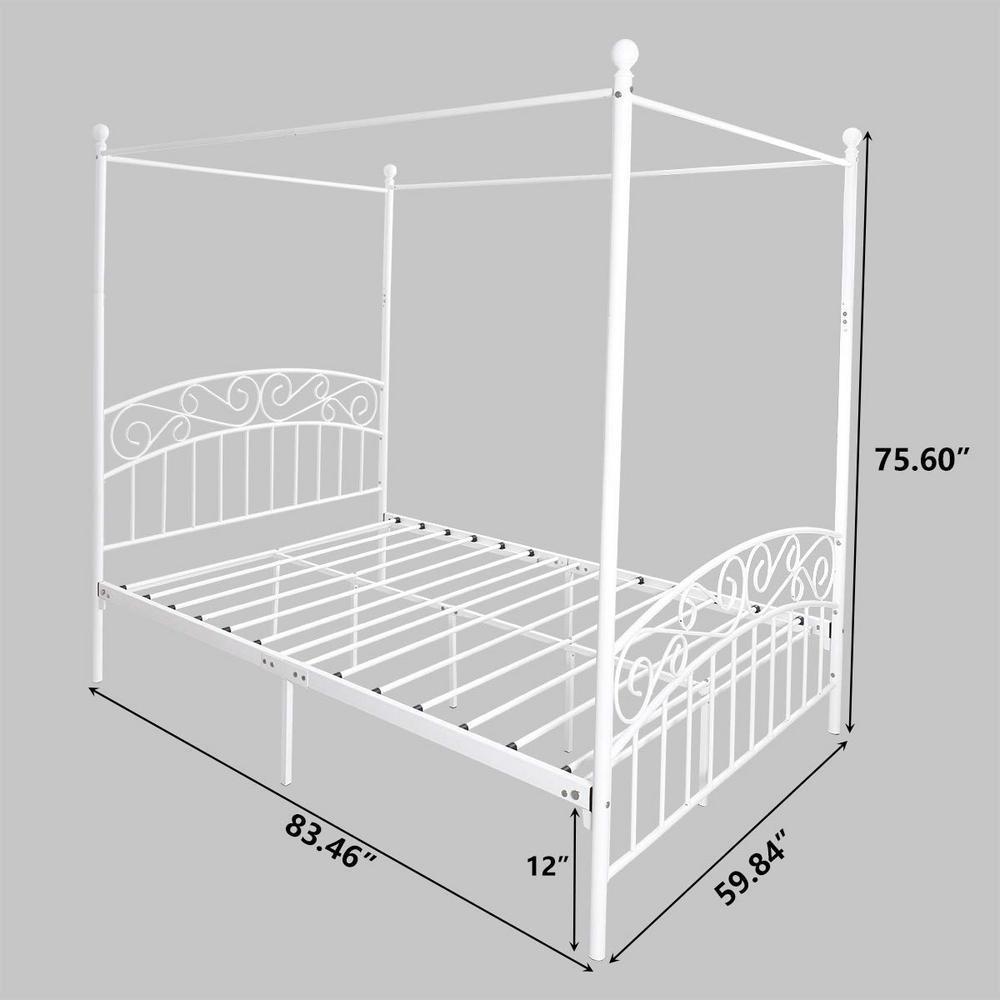Metal Canopy Platform Bed Frame