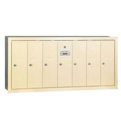 Sandstone Recessed-Mounted USPS Access Vertical Mailbox with 7 Door