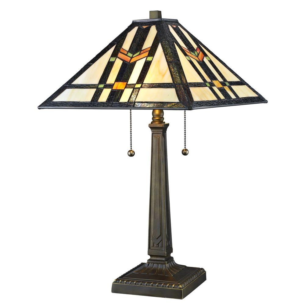 Serena D Italia Geo Hex Styled 23 In Bronze Table Lamp