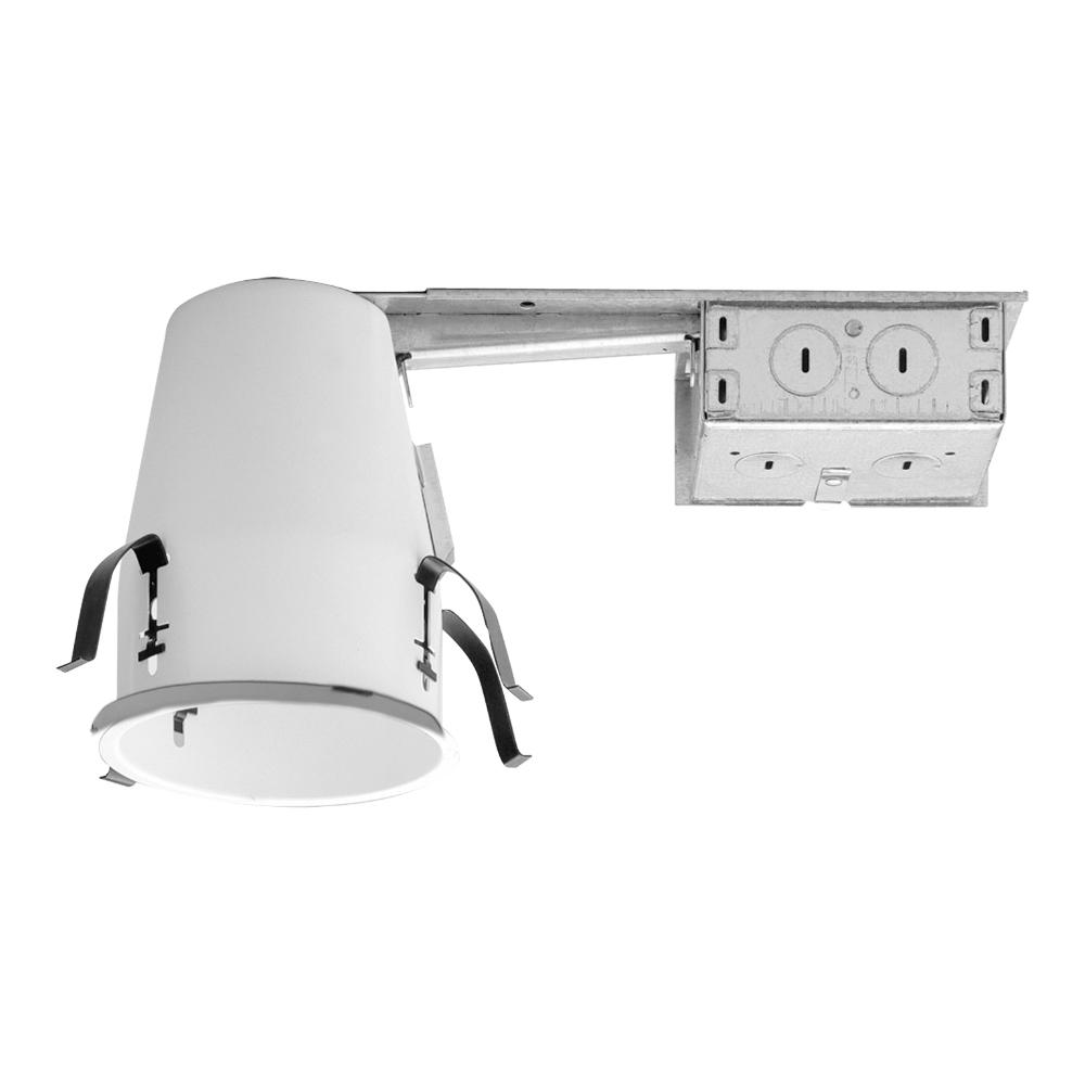 Halo H99 4 In Steel Recessed Lighting Housing For Remodel Ceiling No Insulation Contact Air Tite H99rtat The Home Depot