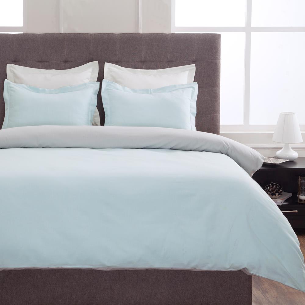 Grant Sky Blue and Gray Full Duvet Set