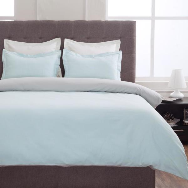 Textrade International Limited Grant Sky Blue and Gray Full Duvet Set