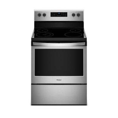 5.3 cu. ft. Freestanding Electric Range with Adjustable Self-Cleaning in Stainless Steel