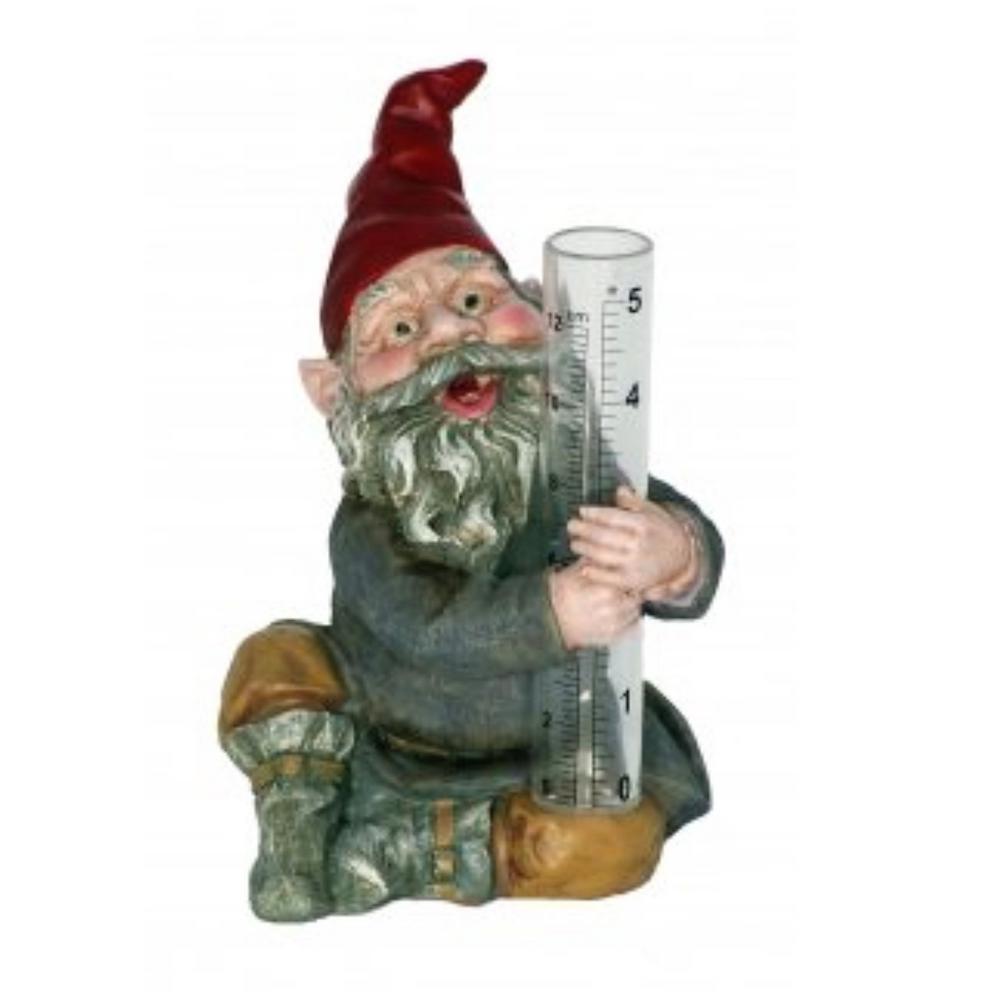 Classic Garden Gnome Rain Gauge Figurine