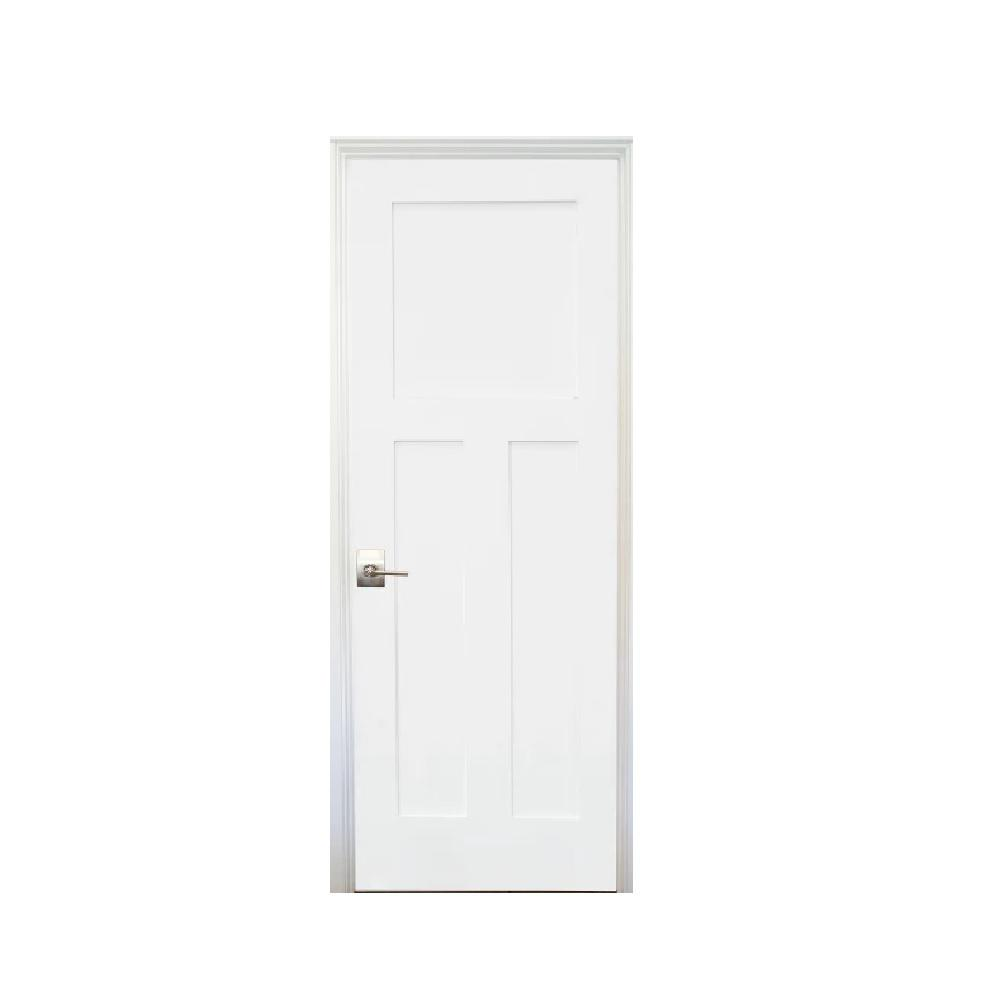 Stile Doors 36 In X 80 In Shaker Primed 3 Panel Right Handed Solid Core Mdf Single Prehung