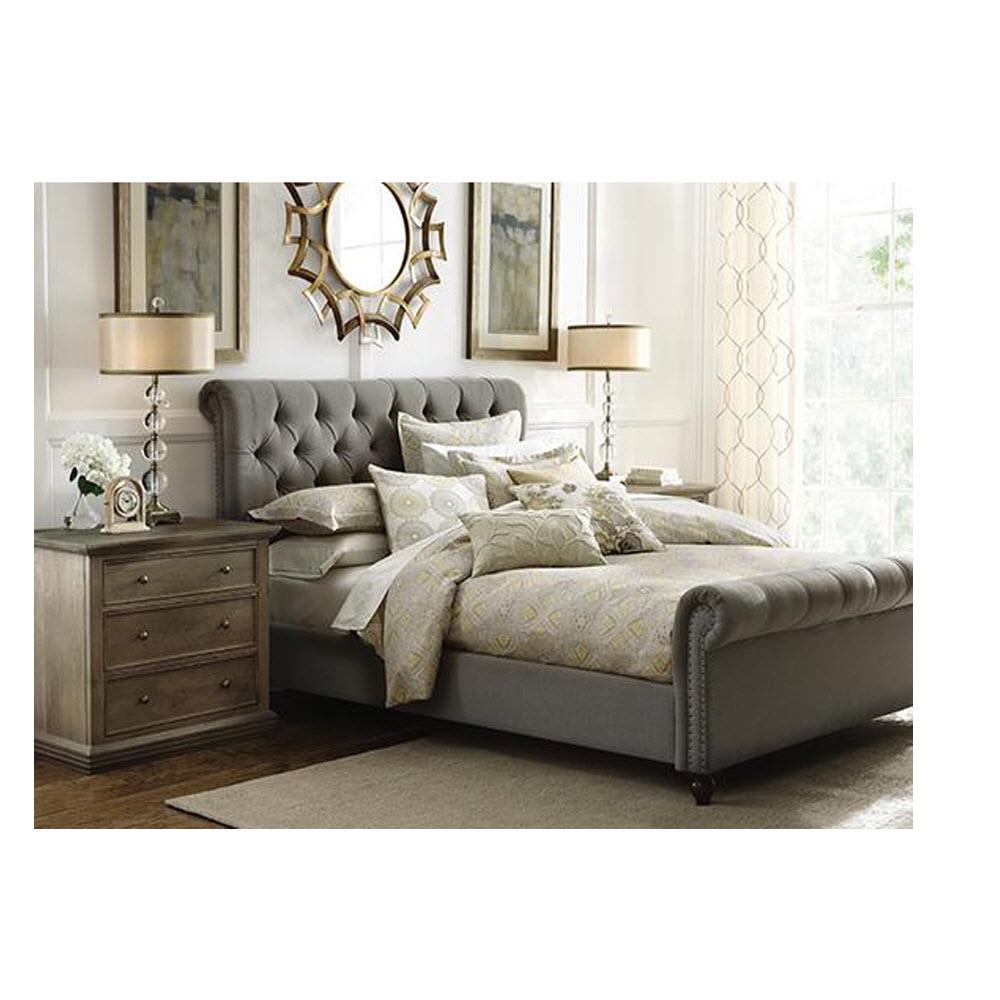 Gordon Grey King Sleigh Bed